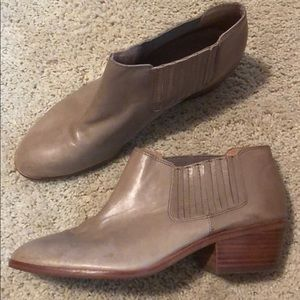 Tan leather booties, Madewell, size 10